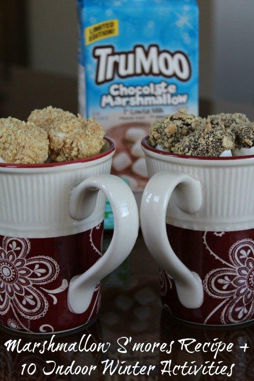Marshmallow S'mores Recipe + 10 Fun Indoor Winter Activities on Food Wine Sunshine