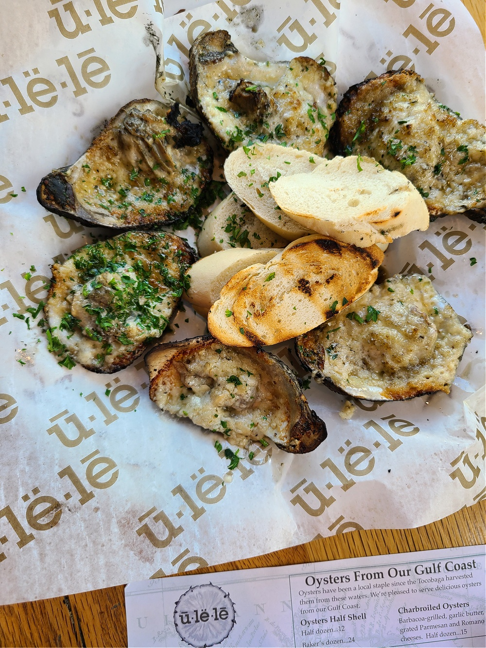 Ulele Charbroiled Oysters