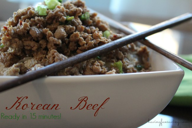 Easy Korean Beef and Rice