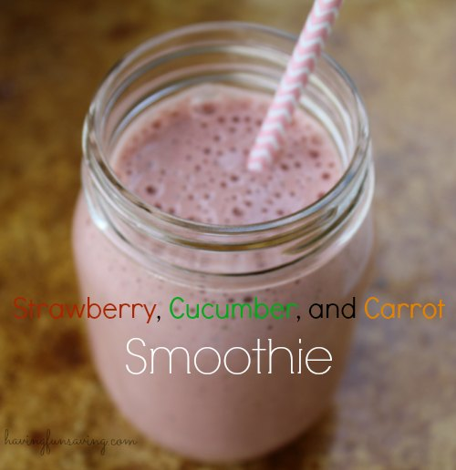 Strawberry Cucumber Carrot Smoothie