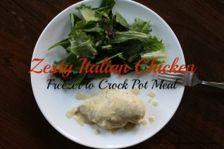 Zesty Italian Chicken Freezer to Crock Pot Meal