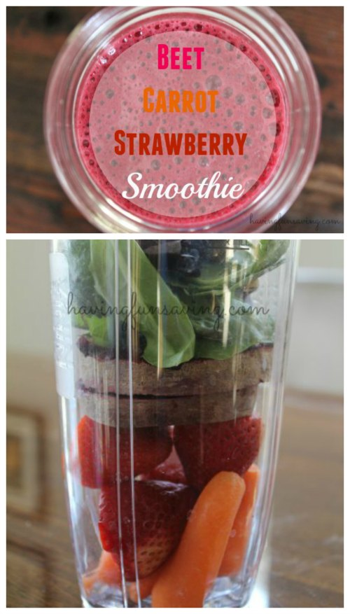 Best Beet Carrot Strawberry Smoothie