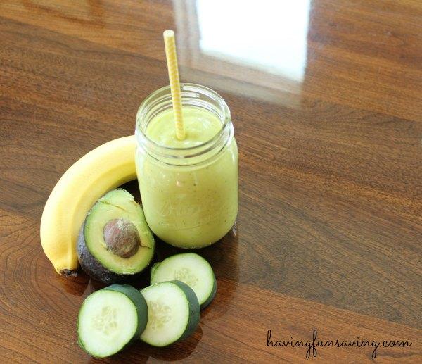 Easy Mango Avocado Protein Shake