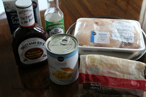 Barbecue Hawaiian Chicken Freezer Meal