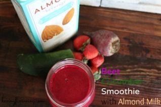 Beet Cucumber Smoothie made with Almond Milk