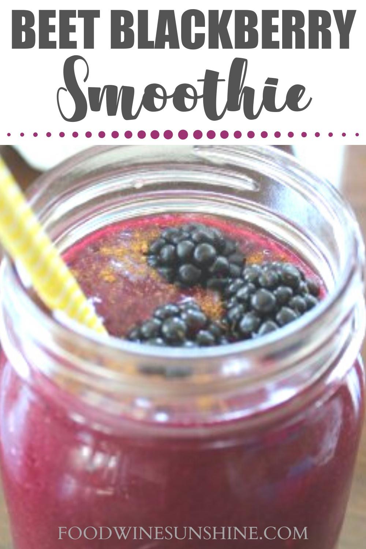 best beet blackberry smoothie