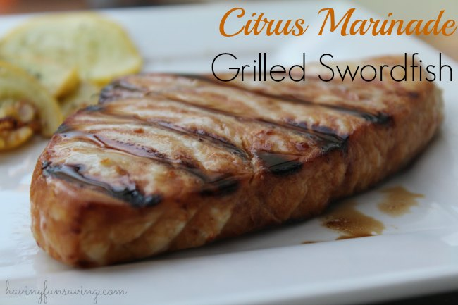 Grilled Swordfish with Citrus Marinade
