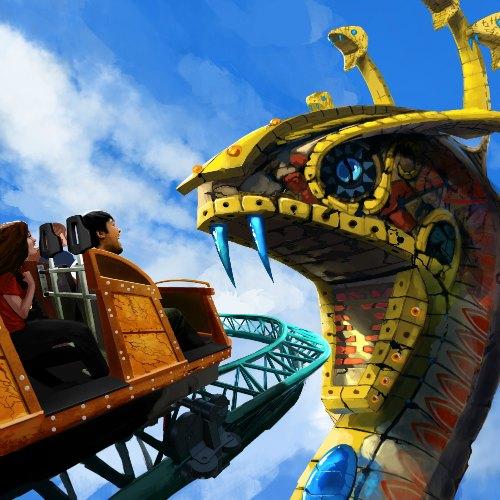 Cobra's Curse Ride at Busch Gardens Tampa