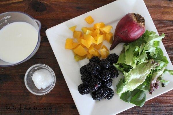 Healthy Blackberry Beet Protein Shake