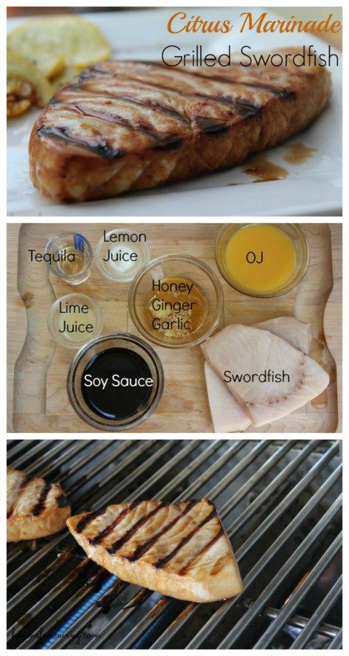 Easy Citrus Marinade Grilled Swordfish