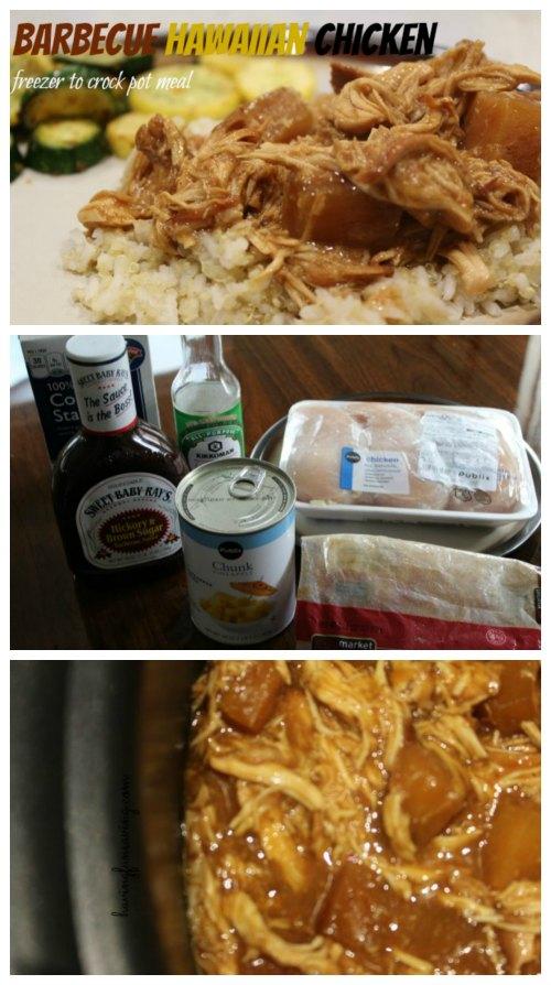 Freezer to Crock Pot Barbecue Hawaiian Chicken