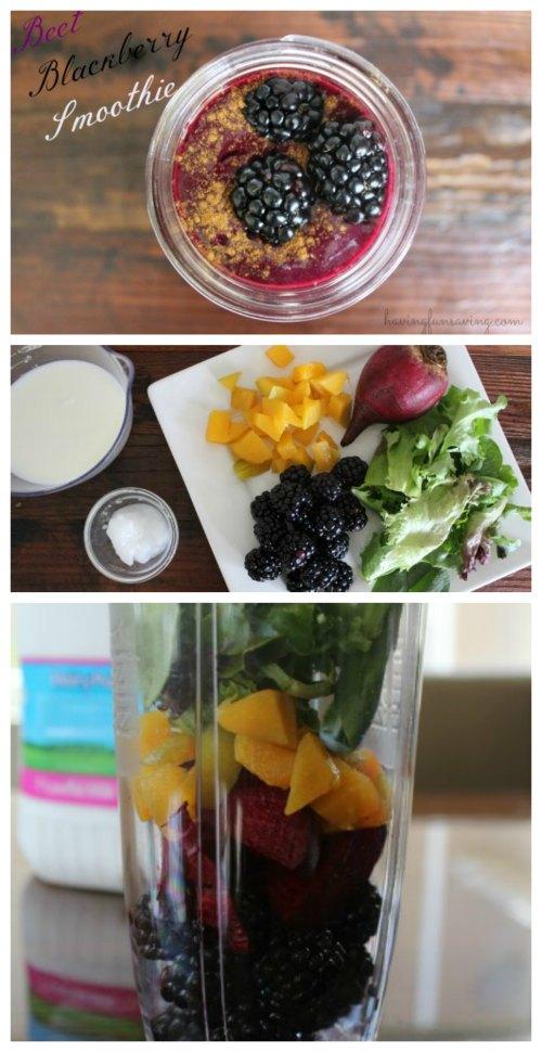 Healthy Beet Blackberry Protein Smoothie
