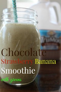 Start Your Day With This Chocolate Strawberry Banana Smoothie made with TruMoo