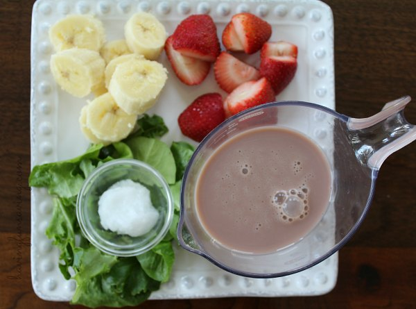 Chovolate Strawberry Banana Smoothie with TruMoo
