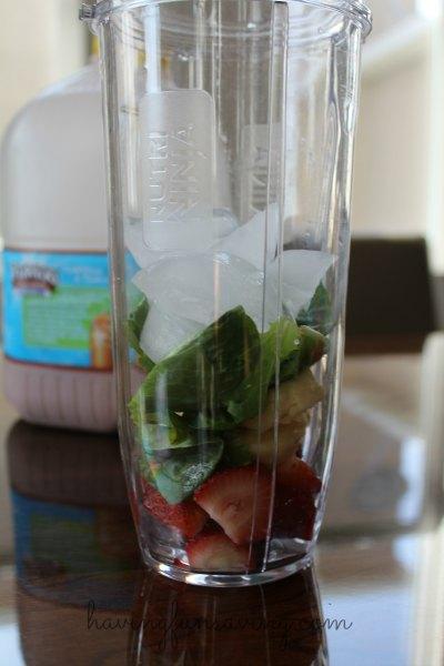 Chocolate Strawberry Banana Smoothie Recipe with TruMoo