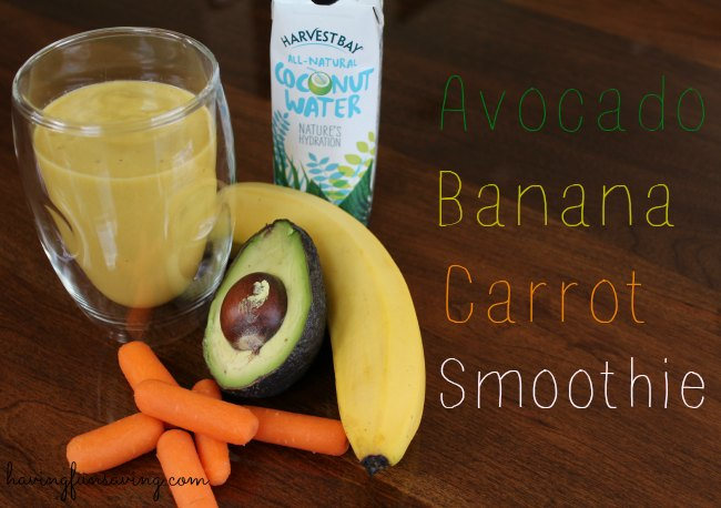 Avocado Banana Carrot Smoothie