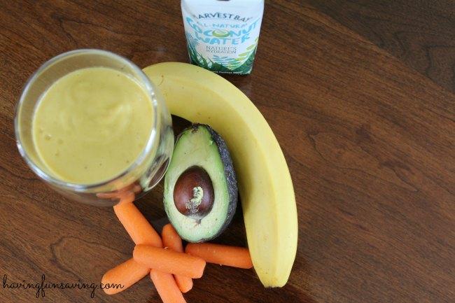 Avocado Banana Carrot Protein Smoothie