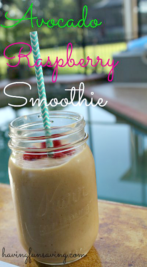 Avocado Raspberry Smoothie