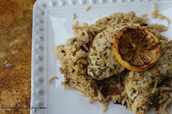 Tasty One Pot Chicken and Lemon Rice