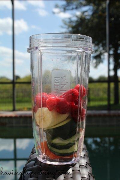 Healthy Raspberry Cucumber Smoothie