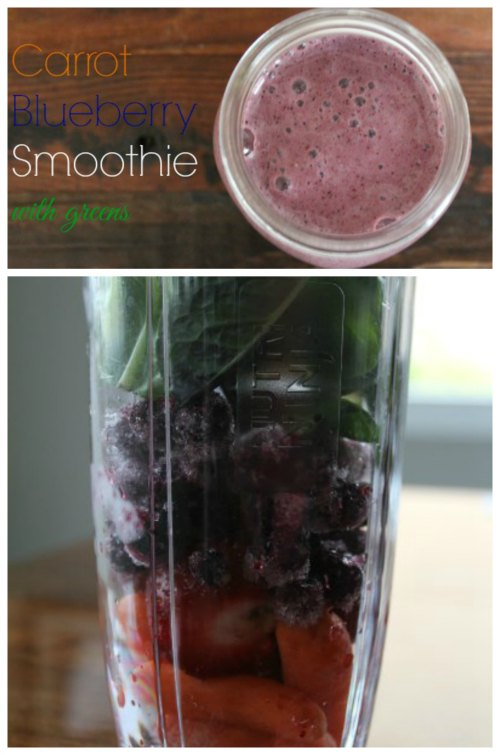 Easy Blueberry Carrot Smoothie