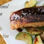Blackened Salmon with Maple Reduction Recipe