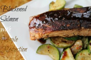 Blackened Salmon with Maple Reduction Recipe