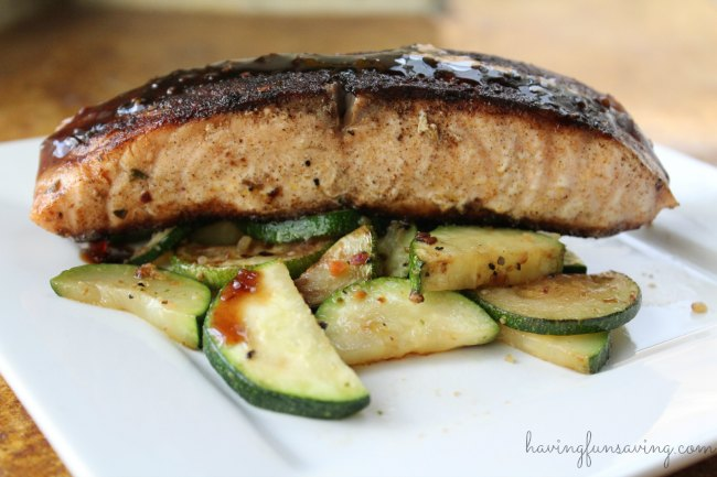 Tasty Blackened Salmon with Maple Reduction