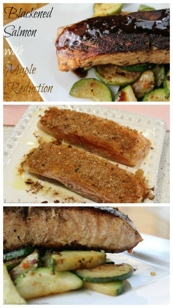 Blackened Salmon with Maple Balsamic Reduction