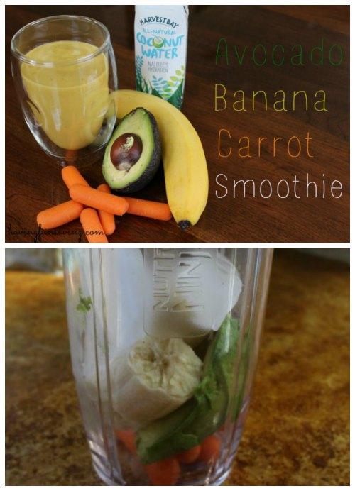 Avocado Banana Carrot smoothie recipe