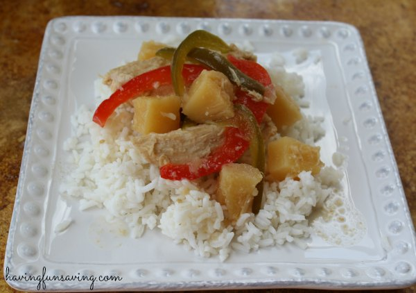 Sweet and Sour Chicken Freezer to Crockpot Meal