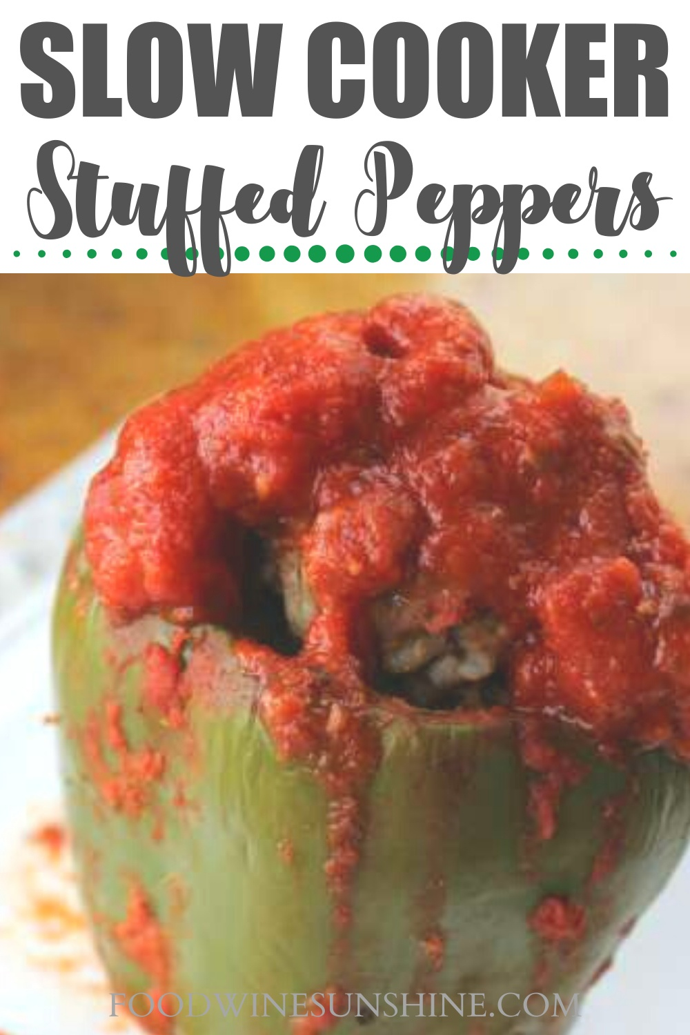 Best Slow Cooker Stuffed Peppers