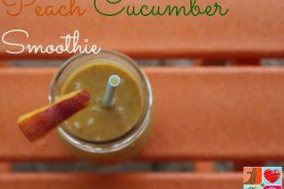 Peach Cucumber Smoothie
