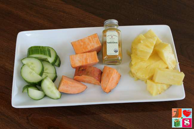 Sweet Potato Pineapple Protein Smoothie
