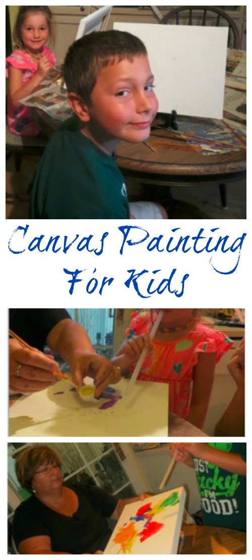 Canvas Painting For Kids on Food Wine Sunshine and Cooking