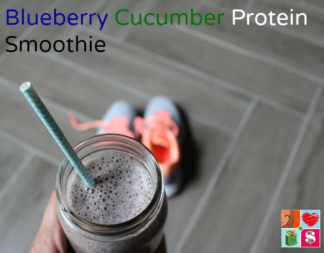Blueberry Cucumber Protein Smoothie
