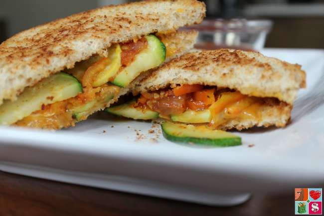 Grilled Cheese and Veggie Sandwich Recipe