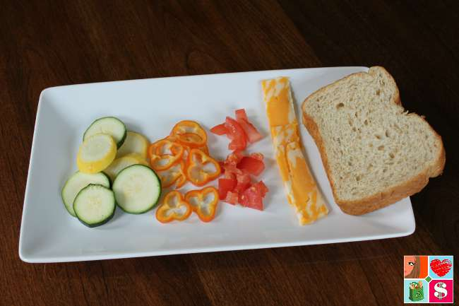Easy Grilled Cheese Sandwich with Vegetables