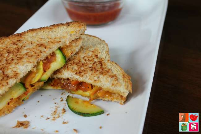 Grilled Cheese and Vegetable Sandwich Recipe