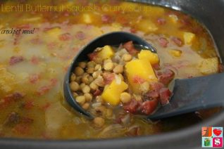 Lentil Butternut Squash Curry Soup - Crockpot Recipe