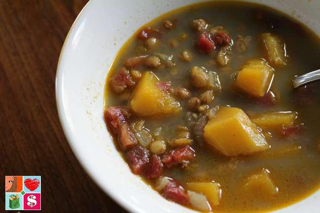 Recipe for Lentil Butternut Squash Curry Soup