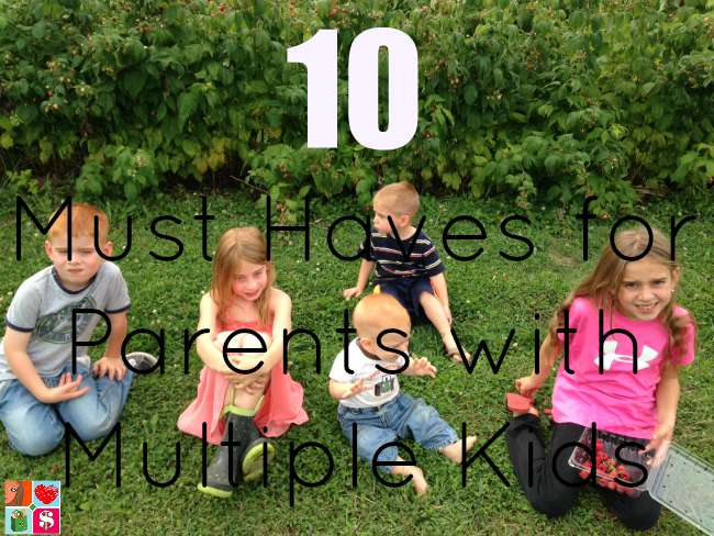 10 Must Haves for Parents with Multiple Kids