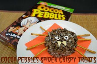 Cocoa Pebbles Spider Crispy Treats Recipe