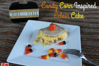 Candy Corn Inspired Eclair Cake Recipe