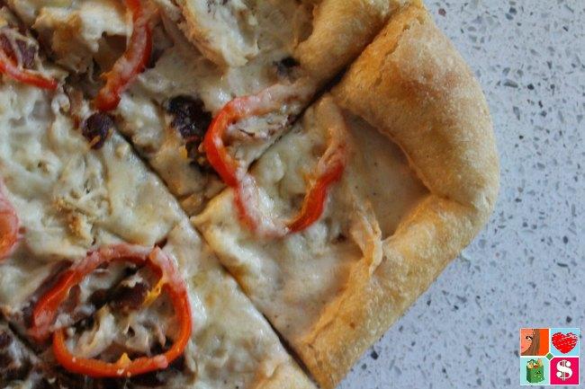 Tasty Chicken Bacon Alfredo Pizza