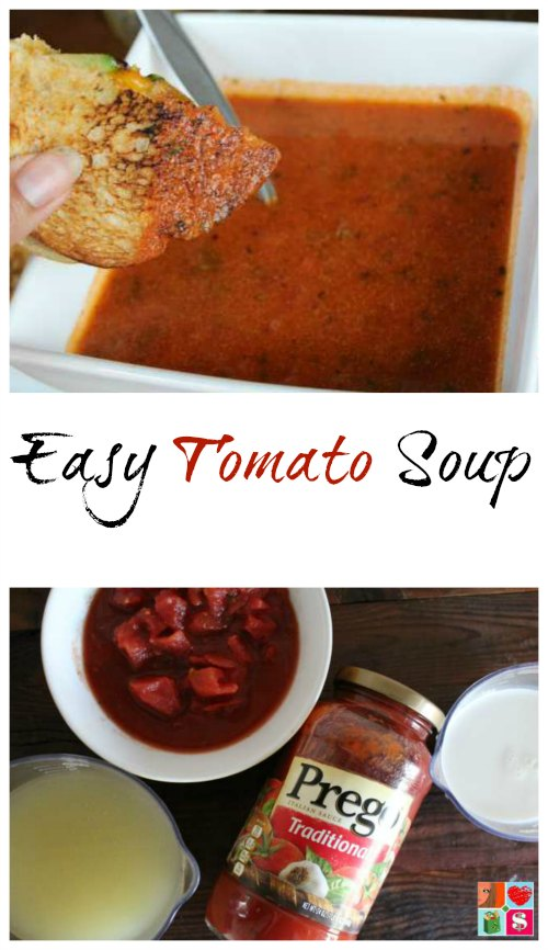 Easy Tomato Soup | Tomato Soup is a delicious comfort food that just seems to warm your soul! This Easy Tomato Soup recipe is only 4 ingredients and is ready in less than 25 minutes. | Read more dinner recipes, healthy recipes and easy recipes the whole family will love on foodwinesunshine.com | Food Wine Sunshine #easyrecipes #dinnerrecipes #dinnerideas #dinner #foodblog #foodblogger