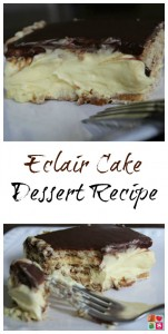 Eclair Cake Dessert Recipe on Food Wine Sunshine