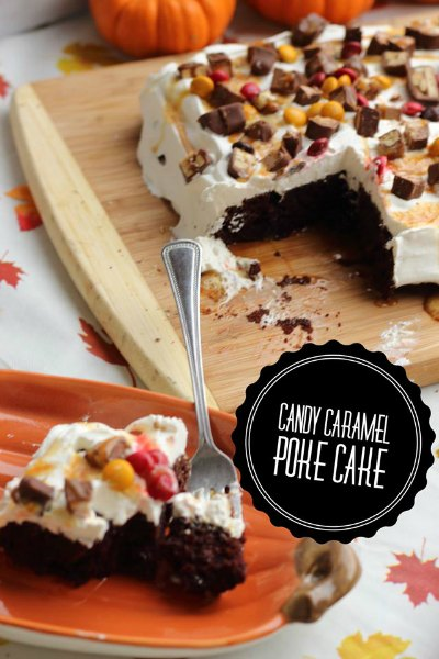Caramel Candy Poke Cake Recipe