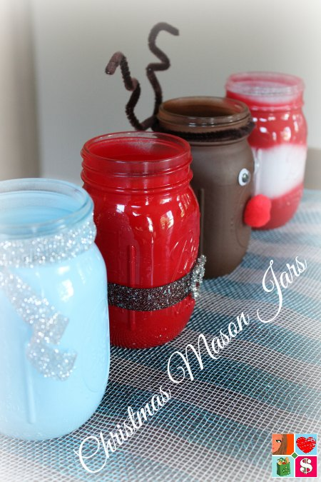 How To Make Santa Mason Jars Diy Christmas Mason Jars