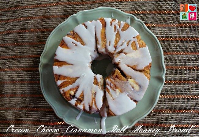 Cream Cheese Cinnamon Roll Monkey Bread Recipe